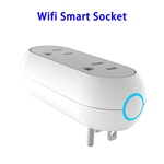 FCC ETL Approved Creative Double Plug Design Smart Plug WiFi Socket