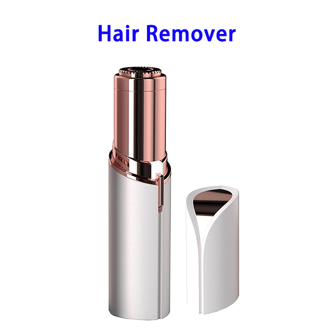 USB Mini Finishing Touch Women's Painless Facial Hair Remover (White)