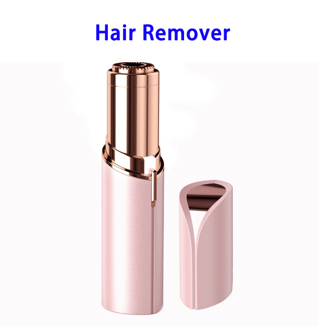 USB Mini Finishing Touch Women's Painless Facial Hair Remover Tool (Pink)