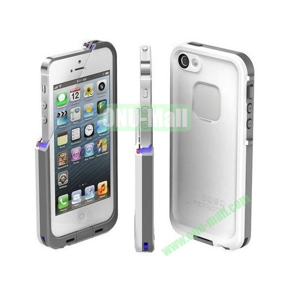 Lifeproof Waterproof Case for iPhone 5 with 360 Degree Protection (White)